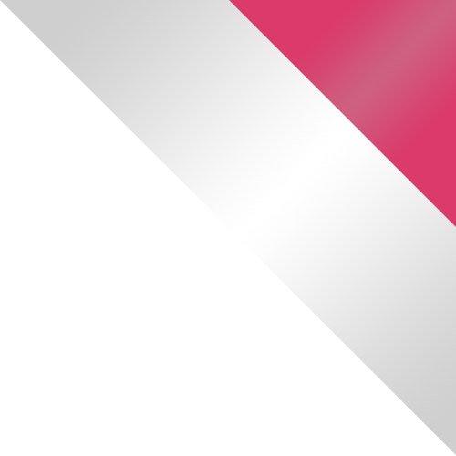 biały / biały połysk + różowy połysk