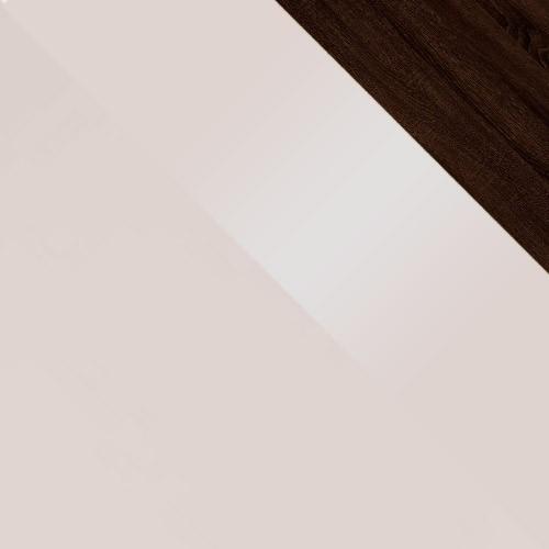 sand grey / sand grey połysk + dąb sonoma ciemna