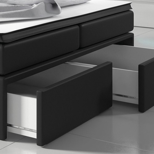 2 szuflady z przodu łoża