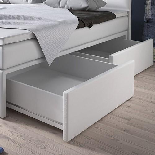szuflady po bokach łoża (z jednej strony 2)