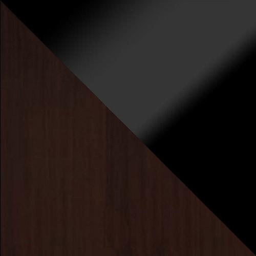 wenge / czarny połysk