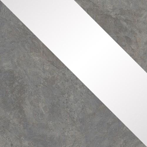 buntschiefer / biały połysk