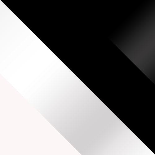 biały / biały połysk + czarny / czarny połysk