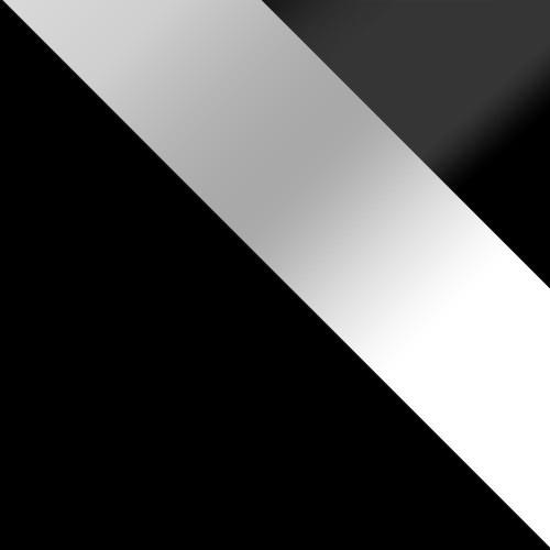 korpus: czarny, drzwi: biały połysk, szuflady: czarny połysk