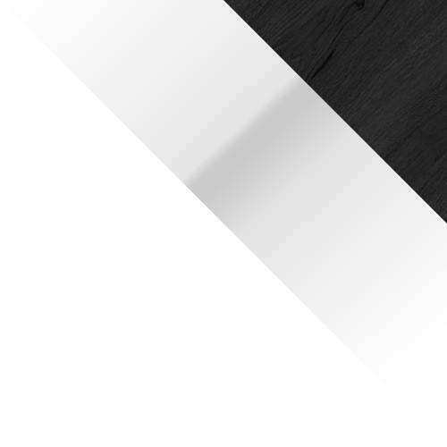 biały + czarny orzech / biały połysk + czarny orzech
