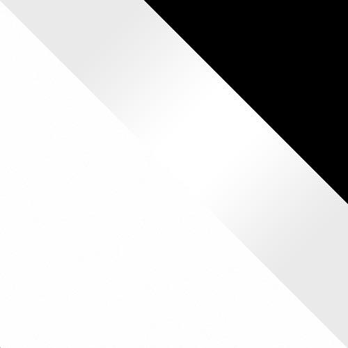 biały / biały połysk + ramki czarne