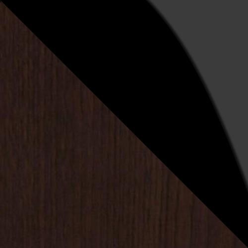 wenge / czarne szkło