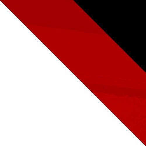 biały / czerwony połysk + czarny połysk