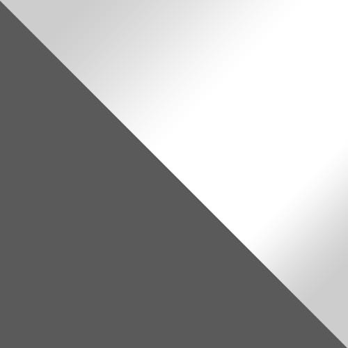 popiel / biały połysk