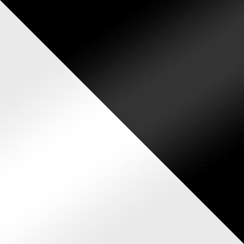 biały połysk / czarny połysk