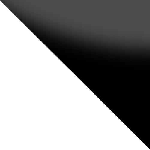 biały / czarne szkło