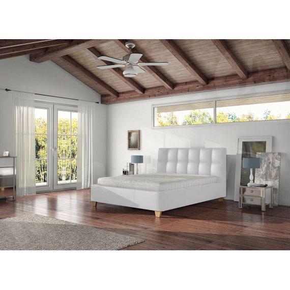 Łóżko tapicerowane Morin z pojemnikiem i materacem