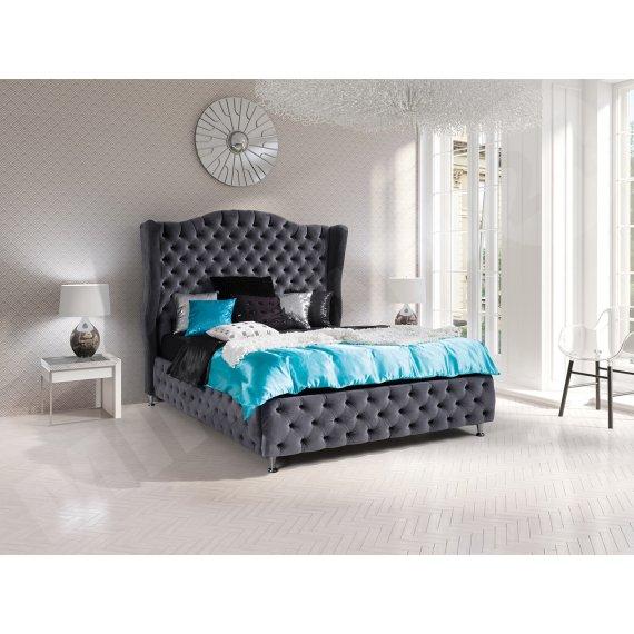 Łóżko sypialniane tapicerowane Raban