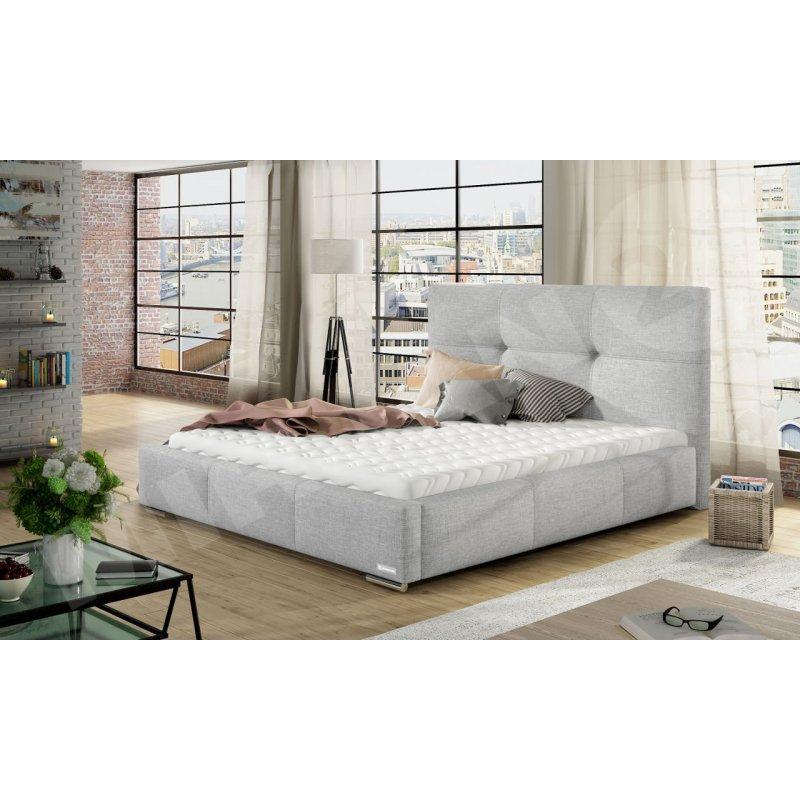 Łóżko ze stelażem i materacem