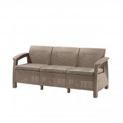 Trzyosobowa sofa do ogrodu Corfu Love Max