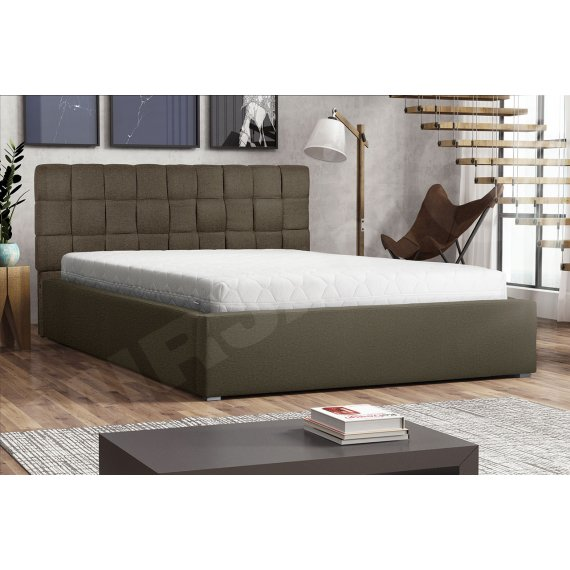 Łóżko tapicerowane ze stelażem rolowanym Kinec