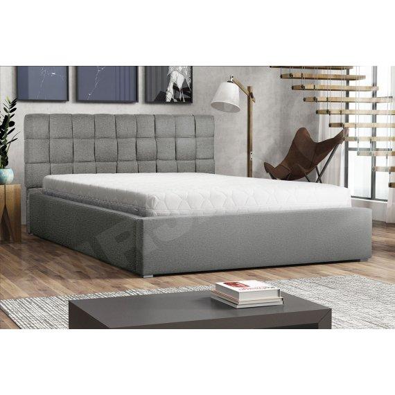 Łóżko tapicerowane z pojemnikiem i stelażem Kinec