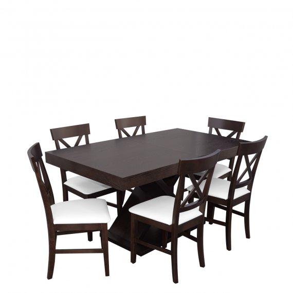 Stół do jadalni z 6 krzesłami - RK044