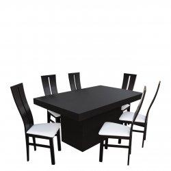 Rozkładany stół z 6 krzesłami - RK042