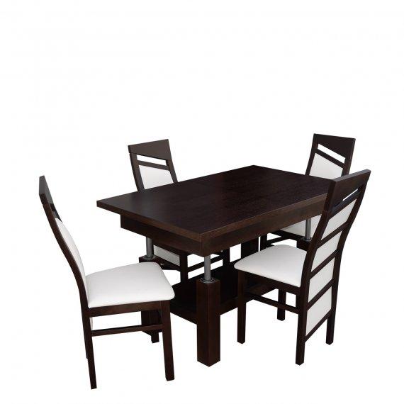 Stół rozkładany z krzesłami dla 4 osób - RK039