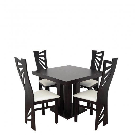 Stół rozkładany z krzesłami dla 4 osób - RK037