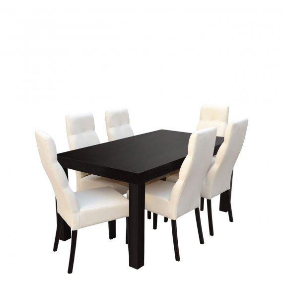 Stół rozkładany z krzesłami dla 6 osób - RK047