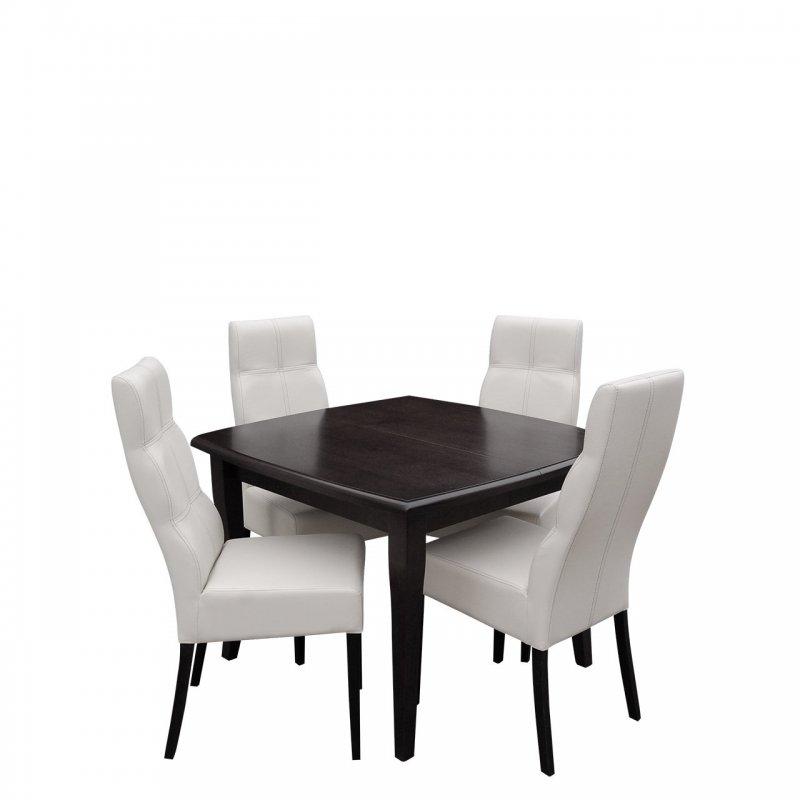 Stół rozkładany z krzesłami dla 4 osób - RK034