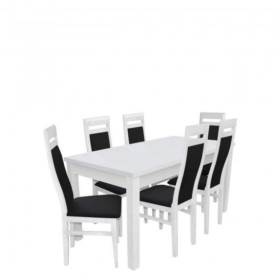 Stół rozkładany z krzesłami dla 6 osób - RK024