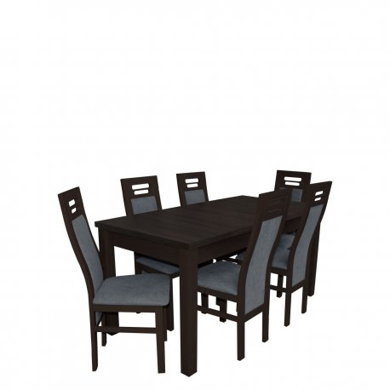 Stół rozkładany z krzesłami dla 6 osób - RK022