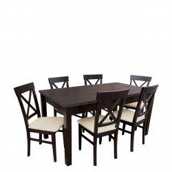 Stół rozkładany z krzesłami dla 6 osób - RK021