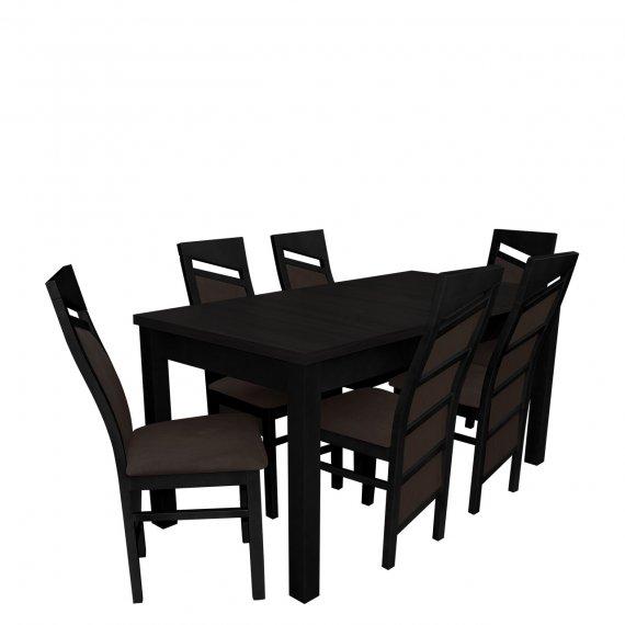 Stół z krzesłami dla 6 osób - RK019