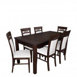 Stół rozkładany z 6 krzesłami - RK016