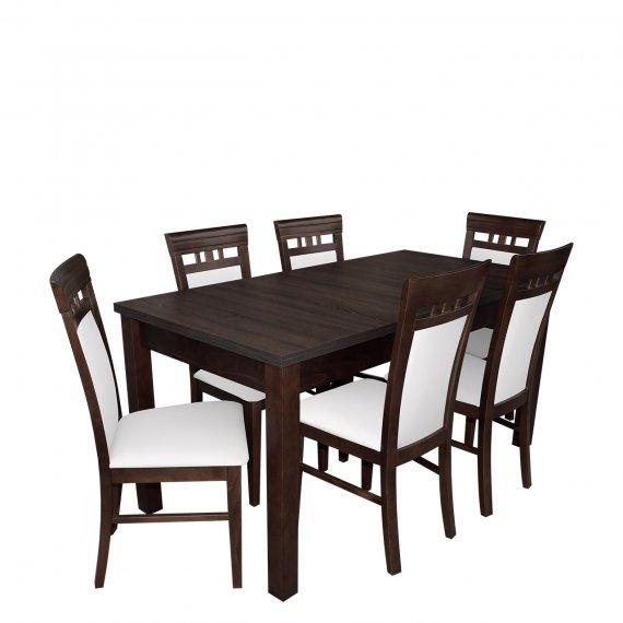 Stół Rozkładany Z 6 Krzesłami Rk016