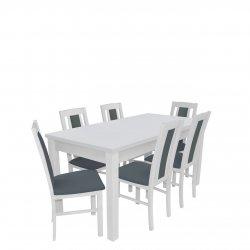 Stół rozkładany z 6 krzesłami - RK015