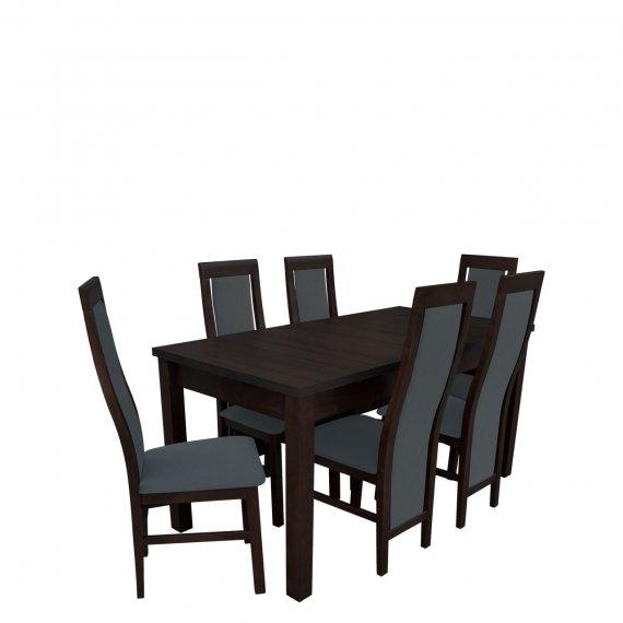 Stół rozkładany z 6 krzesłami - RK014