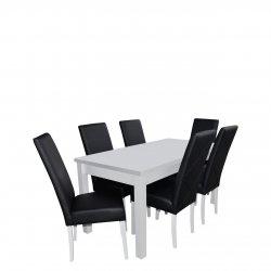 Stół rozkładany z 6 krzesłami - RK013