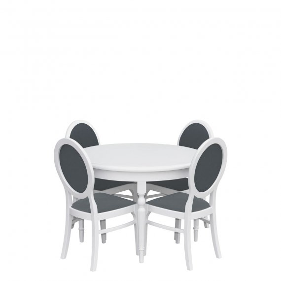 Stół rozkładany z krzesłami dla 4 osób - RK007