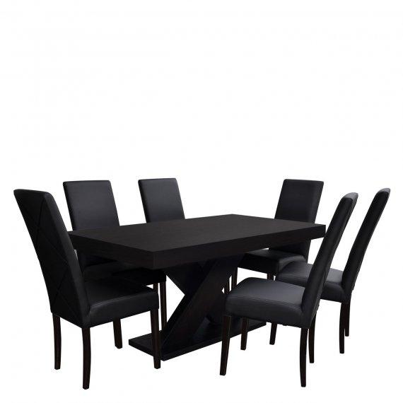 Stół rozkładany z krzesłami dla 6 osób - RK006
