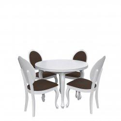 Stół rozkładany z krzesłami dla 4 osób - RK005
