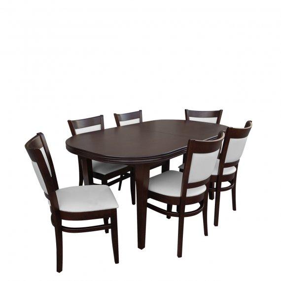 Stół rozkładany z krzesłami dla 6 osób - RK002