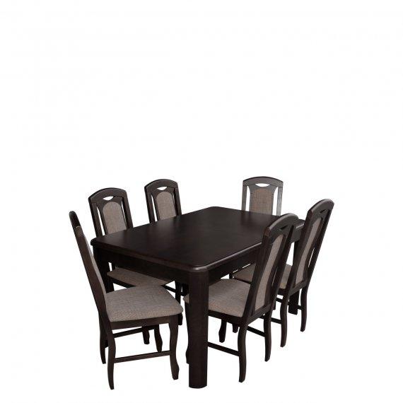 Stół rozkładany z krzesłami dla 6 osób - RK001