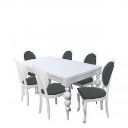 Stylowy stół z 6 krzesłami RK040
