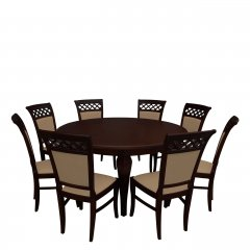 Stół okrągły i 8 krzeseł - RK032