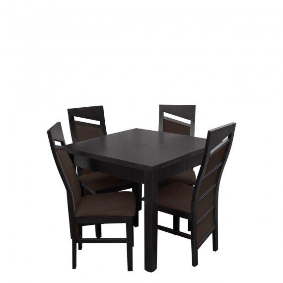 Stół i krzesła dla 4 osób- RK033