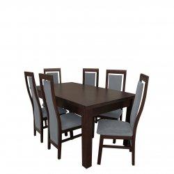 Stół rozkładany z 6 krzesłami - RK012