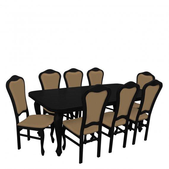 Stół i krzesła dla 8 osób - RK009