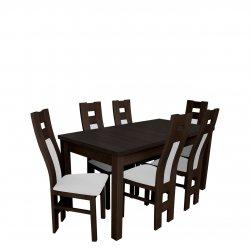 Stół rozkładany z 6 krzesłami - RK018