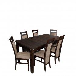 Stół i krzesła dla 6 osób - RK025