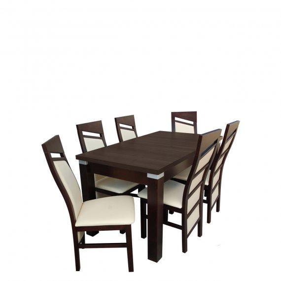 Stół z krzesłami dla 6 osób - RK048