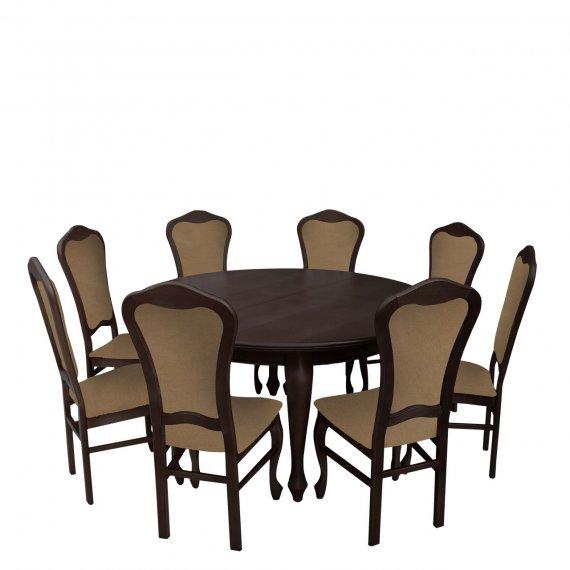 Stół z krzesłami dla 8 osób - RK026